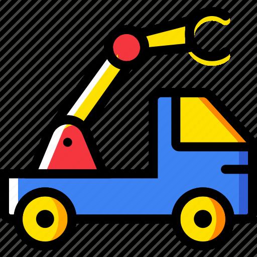 car, crane, transport, vehicle icon