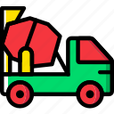 mixer, transport, vehicle icon