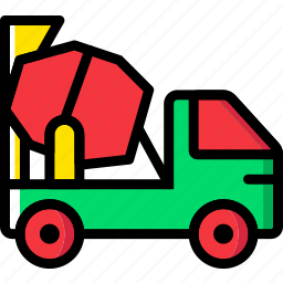 mixer, transport, vehicle icon