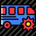 car, settings, transport, vehicle icon