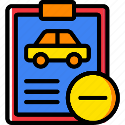 car, details, substract, transport, vehicle icon