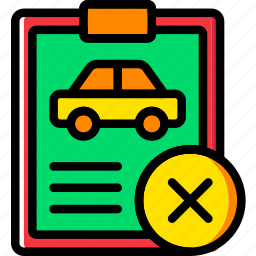 car, delete, details, transport, vehicle icon