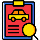 car, details, search, transport, vehicle icon