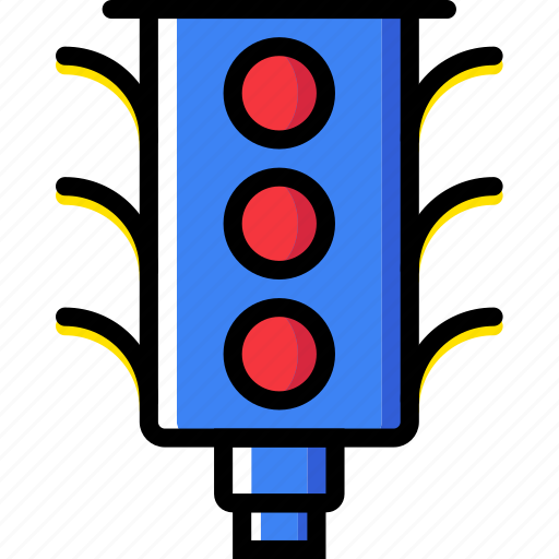 light, traffic, transport, vehicle icon