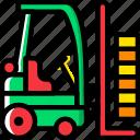 forklift, transport, vehicle
