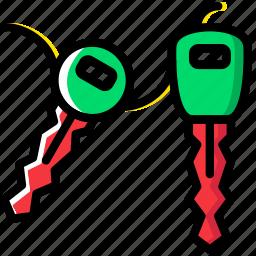 car, keys, transport, vehicle icon