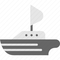sailing, ship, transport, vehicle icon