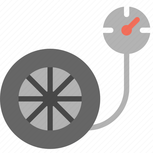 pressure, tire, transport, vehicle icon