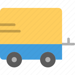 trail, transport, vehicle icon