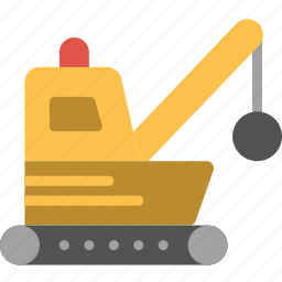 demolisher, transport, vehicle icon