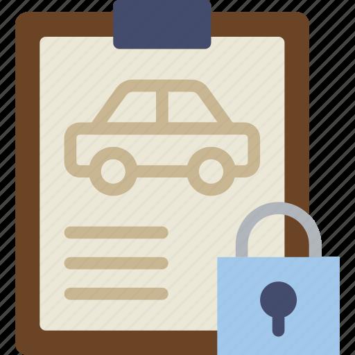 car, details, lock, transport, vehicle icon