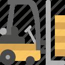 forklift, transport, vehicle icon