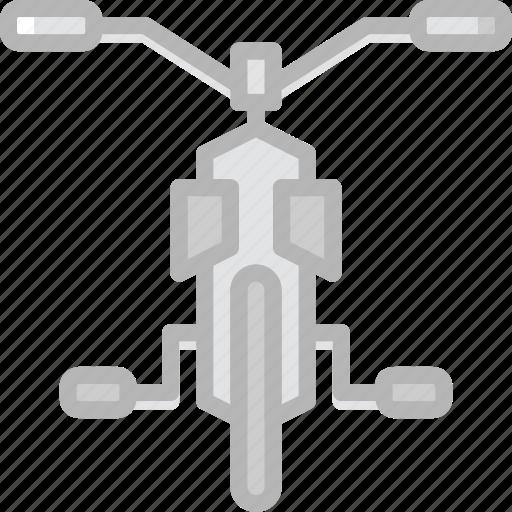 bicycle, transport, vehicle icon