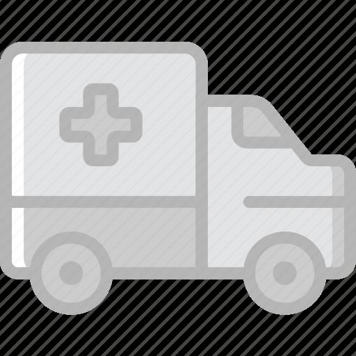 ambulance, transport, vehicle icon