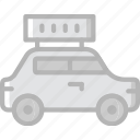 taxi, transport, vehicle icon