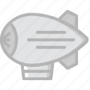 transport, vehicle, zepplin icon