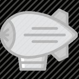 transport, vehicle, zepplin icon