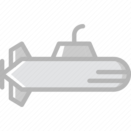 submarine, transport, vehicle icon