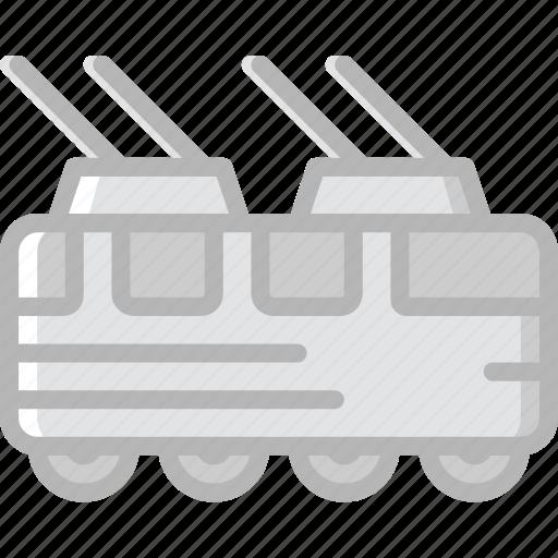 tram, transport, vehicle icon