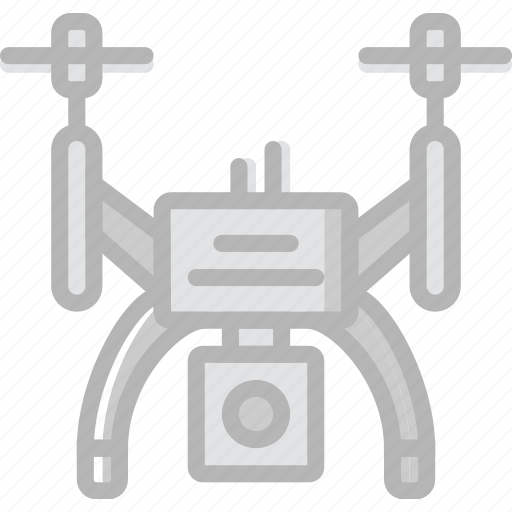 drone, transport, vehicle, video icon