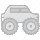 truck, monster, transport, vehicle