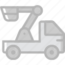 car, crane, transport, vehicle icon