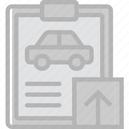 car, details, transport, upload, vehicle icon