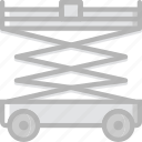 lifter, transport, vehicle icon