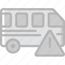 car, transport, vehicle, warning icon