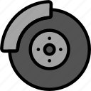 brake, disk, transport, vehicle icon