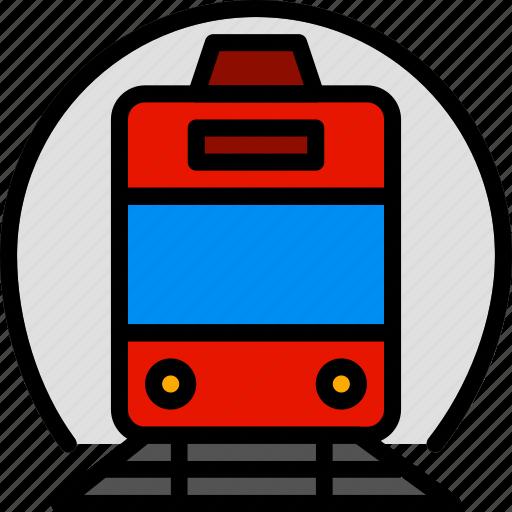 train, transport, vehicle icon