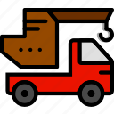 crane, transport, vehicle icon