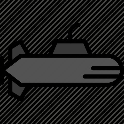 submarine, transport, vehicle icon