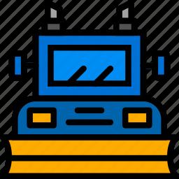 plower, snow, transport, vehicle icon