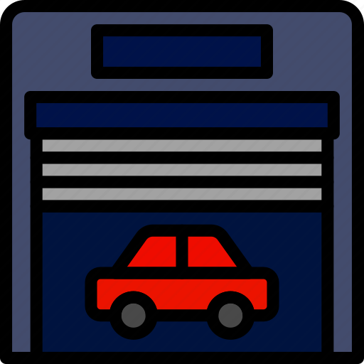 car, garrage, transport, vehicle icon