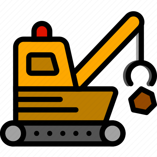 loader, quarry, transport, vehicle icon
