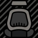 car, seat, transport, vehicle icon