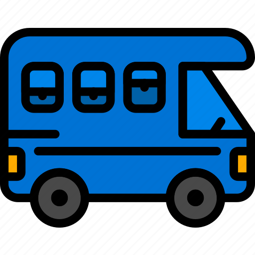 trailer, transport, vehicle icon