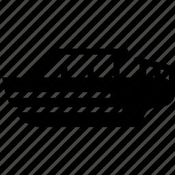 boat, speed, transport, vehicle icon