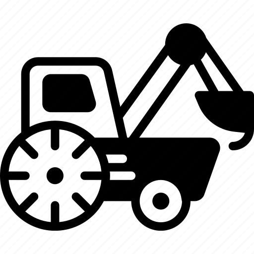 loader, transport, vehicle icon