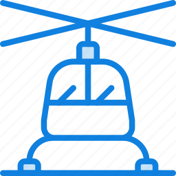 air, helicopter, transport, vehicle icon