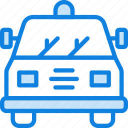 police, transport, vehicle icon