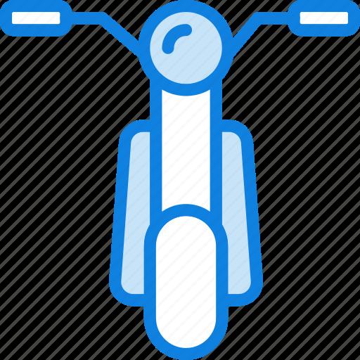 moped, transport, vehicle icon