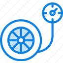 auto, car, pressure, tire, transport, vehicle icon