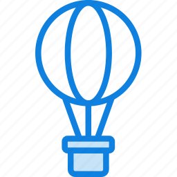 air, balloon, hot, transport, vehicle icon