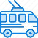 auto, bus, car, transport, trolley, vehicle
