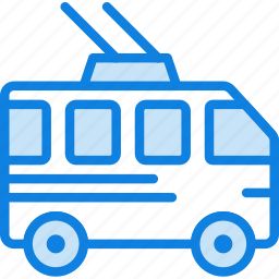 auto, bus, car, transport, trolley, vehicle icon