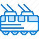tram, auto, car, transport, vehicle
