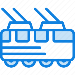auto, car, tram, transport, vehicle icon
