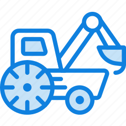 car, loader, transport, vehicle icon